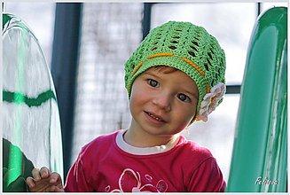 Detské čiapky - margarétka - 3779878_