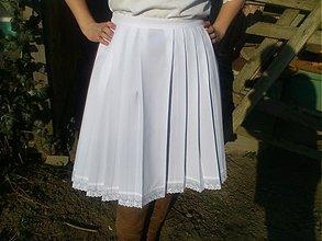 Iné oblečenie - krojová zásterka biela - 3782044_