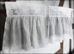Úžitkový textil - záclonka Rose - 3783863_