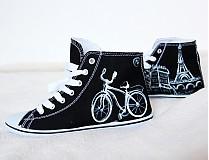 Obuv - čierno-biele Paríž - 3784065_