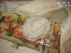 Dekorácie - kvet na svadobnú pokladničku - 3782847_