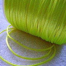 Galantéria - Satén.šnúra 1,5mm-1m (žltá neon) - 3786352_