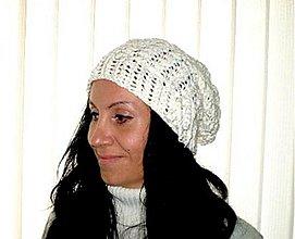 Čiapky - Urban style... čiapka biela - 3784603_