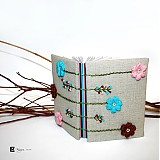 Papiernictvo - Zápisník- kvety - 3786325_