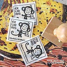 Drobnosti - Opička: pečiatka 4x4 cm - 3785191_