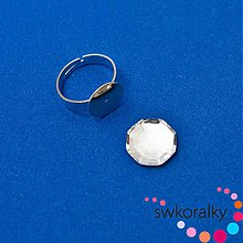 Komponenty - Set-prsten na SOLARIS - pavučina kámen 14 SWAROVSKI ® ELEMENTS 2611 crystal - 3785084_