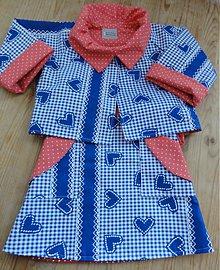 Detské oblečenie - Blue reversible ruffle jacket and wrap skirt for girls - 3788709_