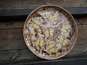 Nádoby - Tanier s motýľmi 28cm - 3788179_