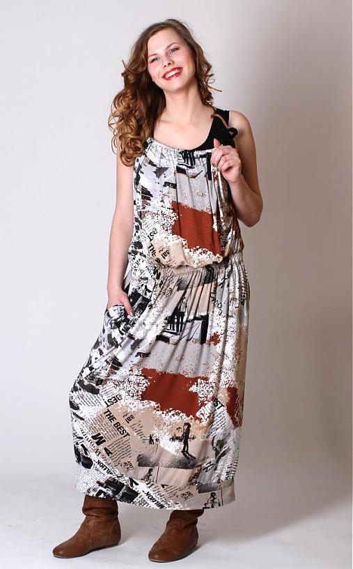Černohnědobílá volná šatová sukně   ladeesse - SAShE.sk - Handmade Šaty 7714e5ec7e