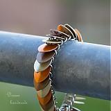 Náramky - Nugátový šupináč - náramok - 3788239_