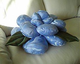 Úžitkový textil - modrá ruža - 3788203_