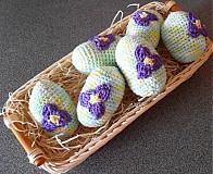 Háčkované vajíčka 6 ks sada