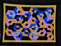 Úžitkový textil - 3D kocky - 3787713_