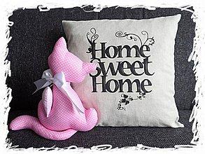 Úžitkový textil - Home Sweet Home obliečka na vankúš - 3790247_
