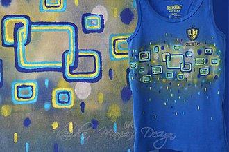 Detské oblečenie - tričko štvorce - 3789153_