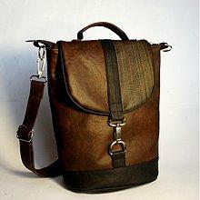 Veľké tašky - Hnedočierna aktovka - 3788523_