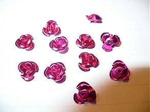 Korálky - kovové ružičky - 10 ks - 3788881_