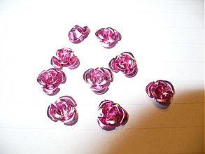Korálky - kovové ružičky - 10ks - 3788889_