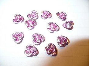 Korálky - kovové ružičky - 10 ks - 3788936_