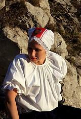 - Svadobný čepiec červeno biely - 3792202_