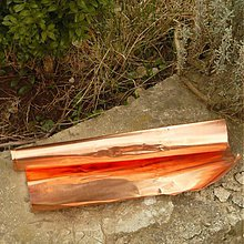 Farby-laky - Medený plech - 10 x 30 cm hrúbka 0,1 - 3794282_