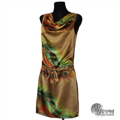 Šaty s pávou potlačou   Dyona - SAShE.sk - Handmade Šaty fedc01d166f