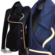 Kabáty - Úpletové sako v námorníckom štýle - 3792682_