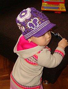 Detské čiapky - Vzorovaná šiltovka - 3792976_