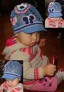 Detské čiapky - Vzorovaná šiltovka - 3793043_