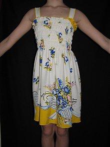 Šaty - Dievčenské hodvábne šaty - 3794425_