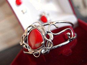Sady šperkov - Sada z červeného korálu - 3795815_