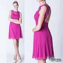 Šaty - Šifónové koktejlky s holým chrbátom rôzne farby - 3796460_