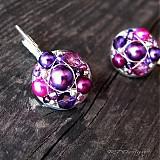 Náušničky Violet Flowers...