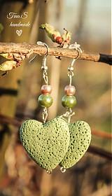 Náušnice - Green Love - 3794991_