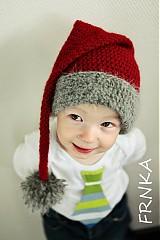 Detské čiapky - Vianočná pre malých škriatkov :) - 3799037_