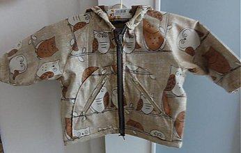Detské oblečenie - Hoodie jacket with owls for little boys - 3801825_