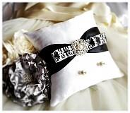 Prstene - Vankúšik- Black &White. - 3799939_