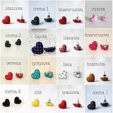 Náušnice - Náušnice Srdiečka v bledoružovom a mnoho iných farieb - 3802495_