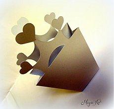 Darčeky pre svadobčanov - Krabička: Srdce v rukáve - 3800899_