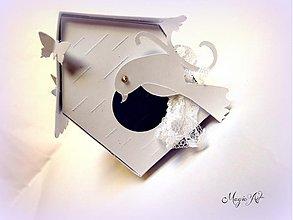 Darčeky pre svadobčanov - Krabička: Vtáčia búdka - 3801085_