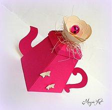 Darčeky pre svadobčanov - Krabička: Čajík od mamky - 3801121_