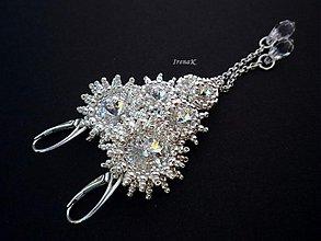"""Náušnice - """"Pure"""" strieborné náušnice (crystal) - 3802294_"""