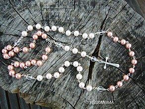 Iné šperky - TICHÁ CHVÍĽKA - ruženec (ružový) - 3798984_