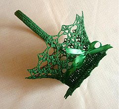 Dekorácie - Zelený košíček - 3800572_