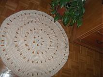 Úžitkový textil - okruhly kobercek marhulkovy - 3803050_