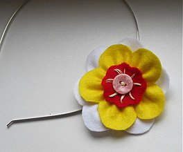 Ozdoby do vlasov - čelenka žltá kvetinka - 3804293_