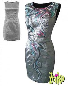 Šaty - ručne maľované šaty - 3805890_