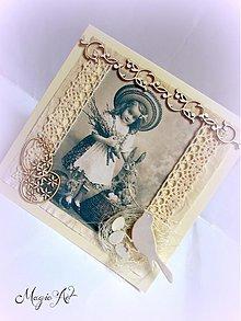 Papiernictvo - Dievčatko s bahniatkami - 3803860_