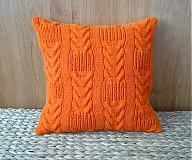 Úžitkový textil - Vankúš ručne pletený - 3807664_