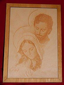 Obrazy - Gravirovany obraz nabožensky motív - 3809421_